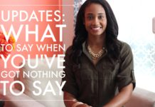 Updates: What To Say When You've Got Nothing To Say | Workshop Guru