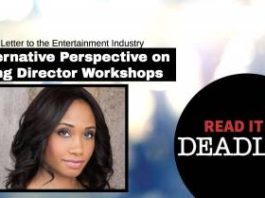 My Open Letter To The Entertainment Industry (on Deadline Hollywood)   Workshop Guru