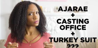 Ajarae. A casting office. And a turkey suit. | Acting Resource Guru