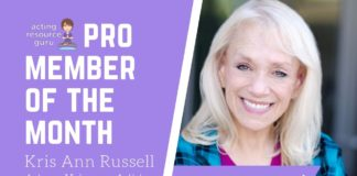 Spotlight on Kris Ann Russell!   Acting Resource Guru