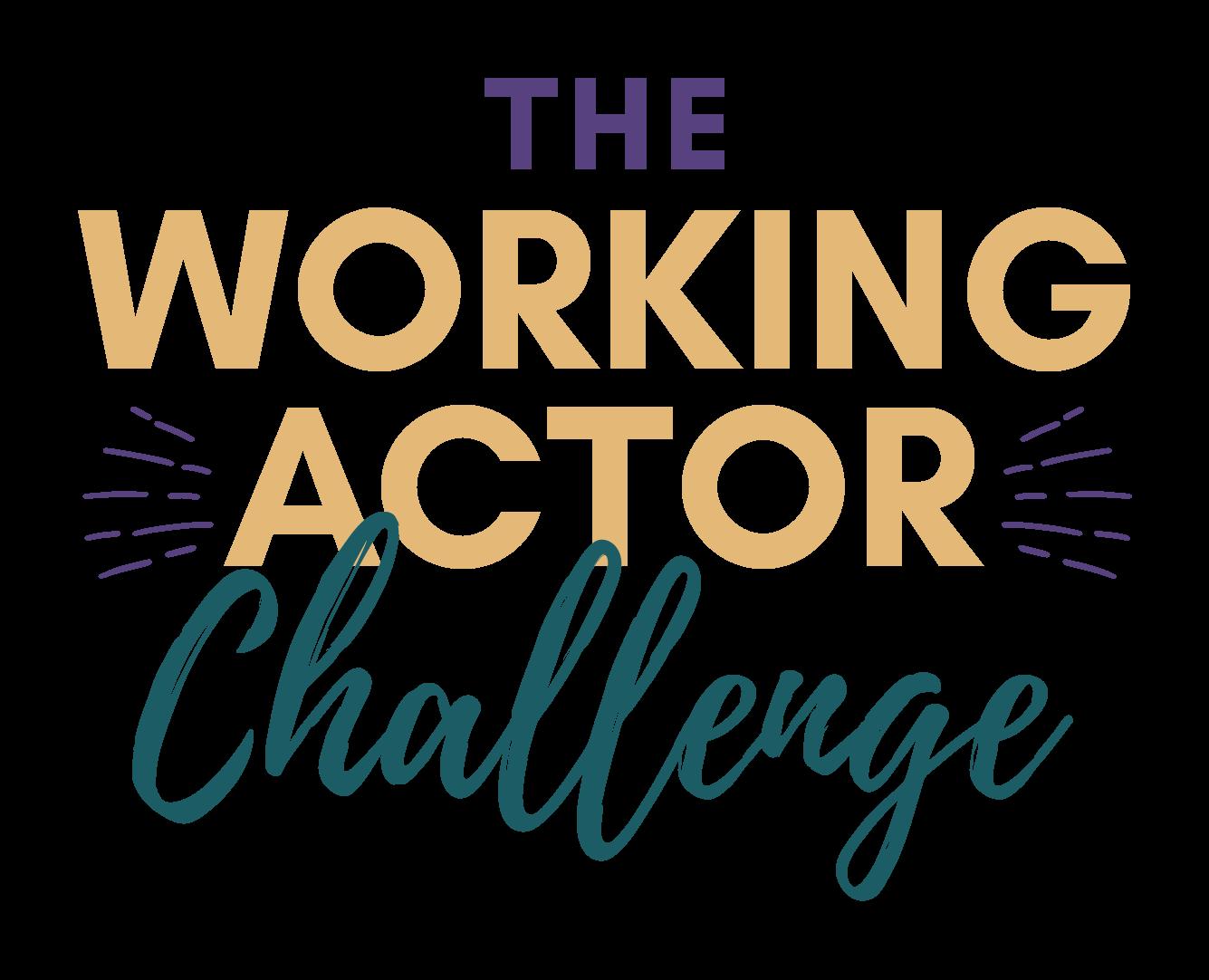 The Working Actor Challenge Logo